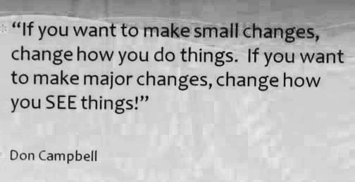 small changes big changes